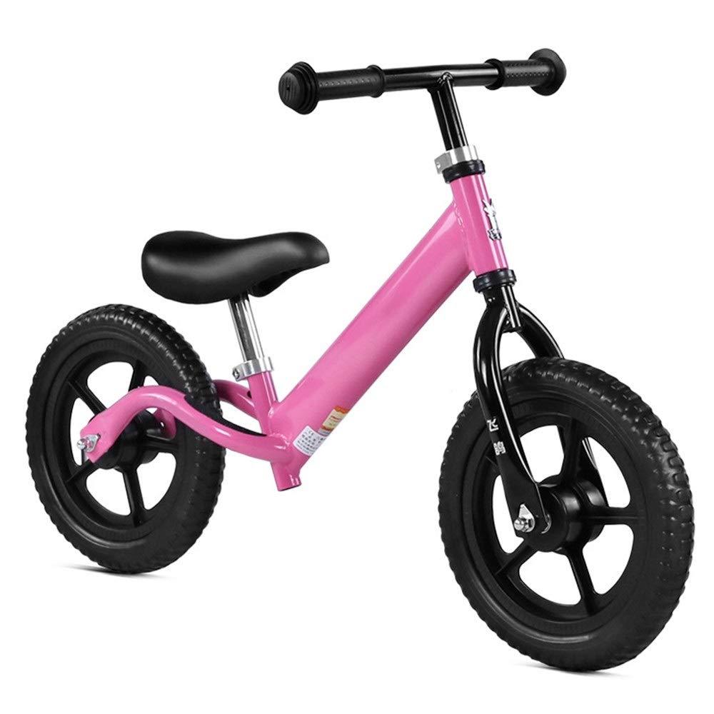 Bambino in bicicletta 12  Balance Bike per bambini e bambini No Pedal con pneumatici Air-free Manubrio antiscivolo Sedile regolabile Push And Stride Walking Bicicletta Sport Training Bilanciamento Bik