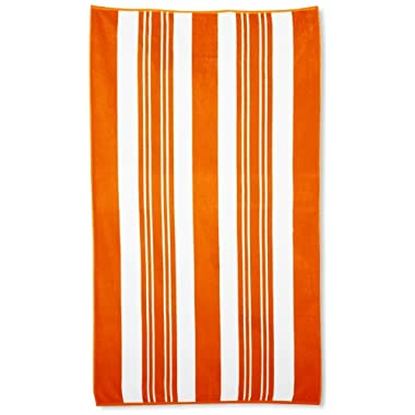 Northpoint Sorrento Combed Cotton Thick Terry Oversized Beach Towel, 40 by 70-Inch, Orangecello Orange