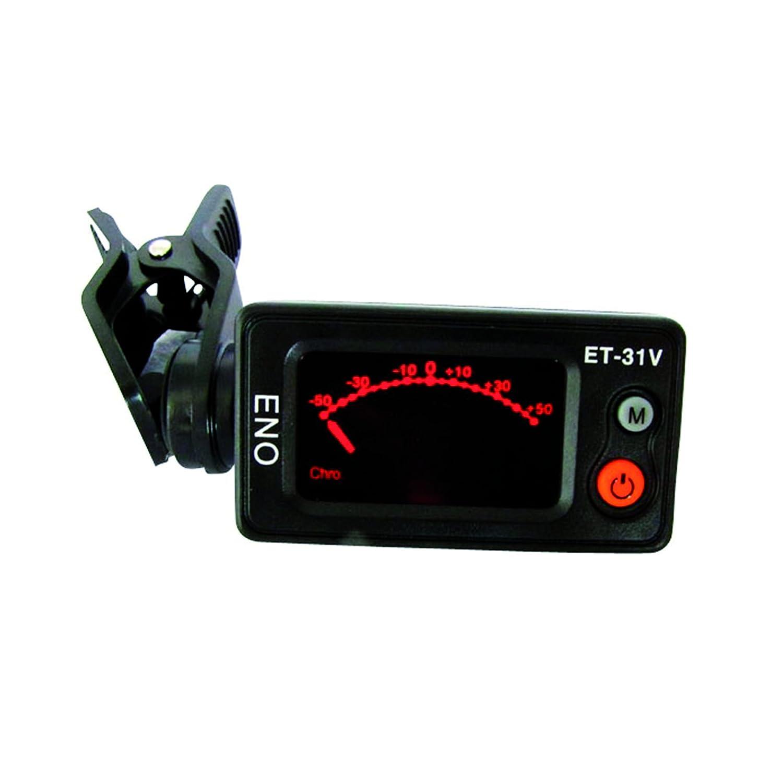Eno ET31V Accordeur-clip chromatique pour Violon/Violoncelle/Contre-basse Noir Accordeurs