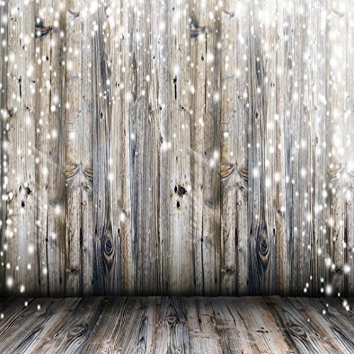 10x10 ft Light Grey Wood Wall Photography Backdrop Gray Wooden Floor Photo Backgrounds for Children