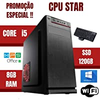 Cpu Star Montada Core i5 8gb Ram Ssd 120gb Windows 10 - Nova