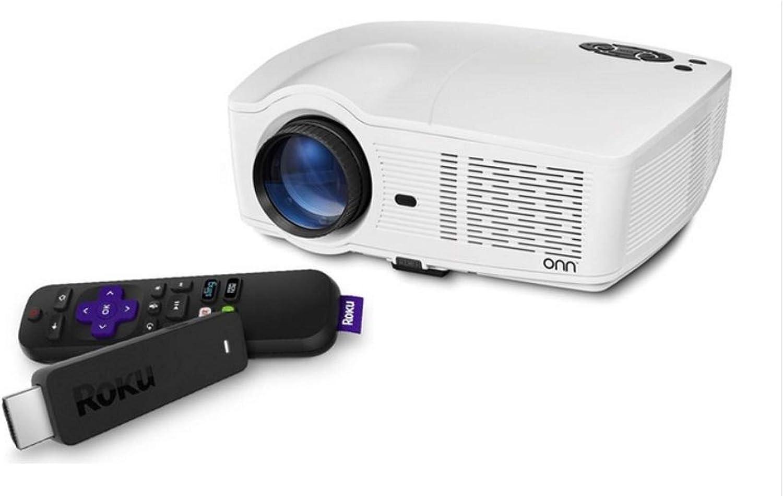 ONN 720p Portable Projector w/Roku Streaming Stick