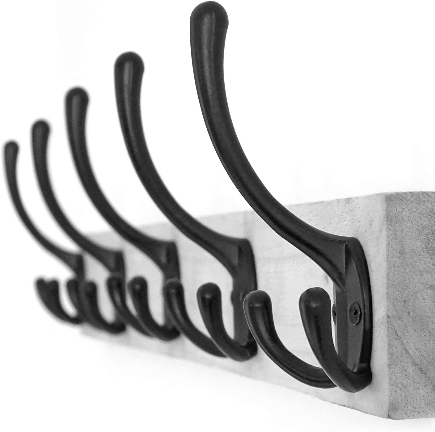APBFH Wall Mounted Towel Hooks with Three Prongs