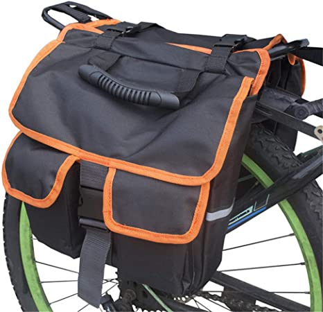OYHN Bolsa Alforja Trasera para Bicicleta Portaequipajes y alforjas de Ciclismo Bolsas, Mochilas y alforjas,Naranja: Amazon.es: Deportes y aire libre