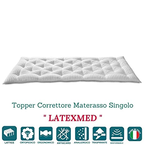 Evergreenweb - Correttore Materasso in Lattice Singolo 80x190 Alto 7 ...