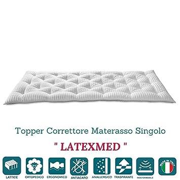 EvergreenWeb – Corrector Colchón de látex individual 80 x 200 alto 7 CM, Topper cama