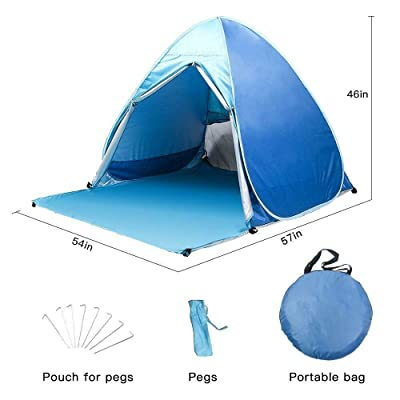 RT Portable Quick Automatic Pop Up Instant Beach Sun Shelter : Garden & Outdoor