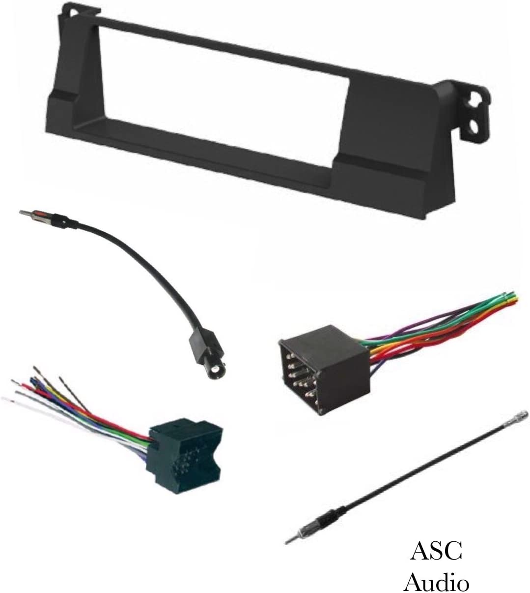 Amazon.com: ASC Car Stereo Install Dash Kit, Wire Harness, and ... car stereo wire connectors Amazon.com
