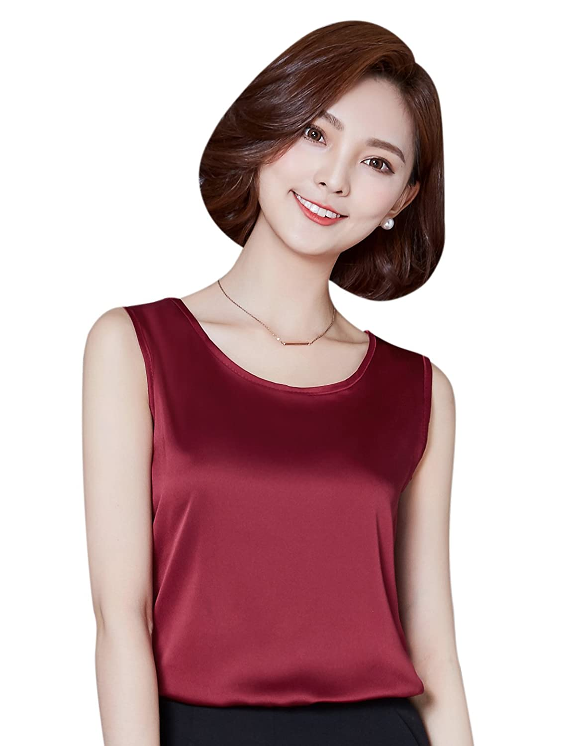 Alizeal Womens Camisole Silk-Feeling Charmeuse Vest Tops Multi-Color Available
