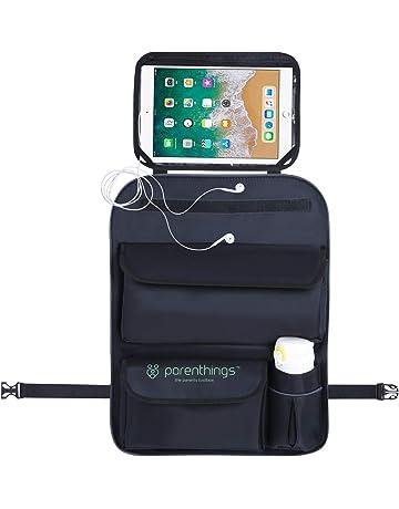 Parenthings organizador de coche para niños con soporte extraíble para tableta de pantalla táctil. Material