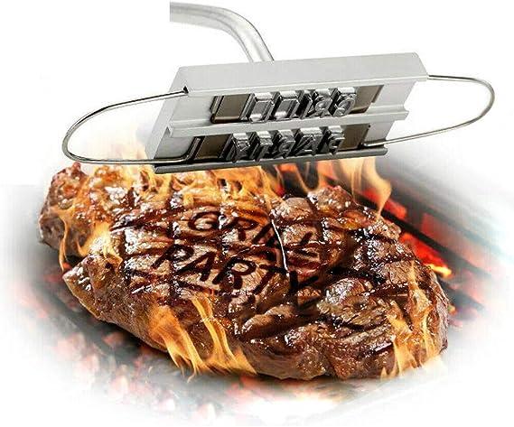 Grill Brandeisen Buchstaben Steak BBQ Stempel Brandzeichen Edelstahl