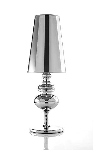 Lámpara de mesa de diseño cromado JODI: Amazon.es: Iluminación