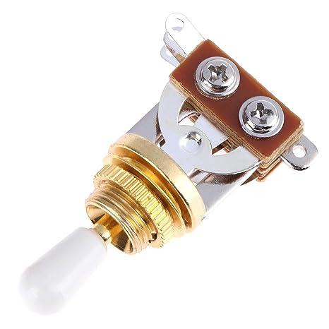 Broadroot guitarra eléctrica Gear dispositivo 3 Gear timbre interruptor de cambio, blanco