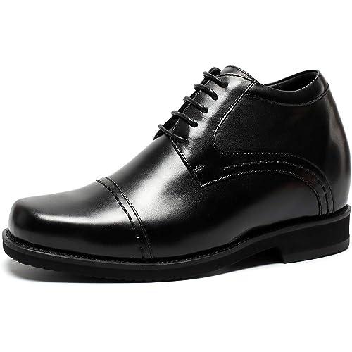 Oxford Ville Rehaussante Cuir Pour Lacets Chaussure Chamaripa Noir 3lc5uF1JTK
