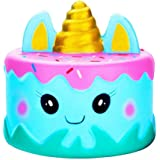 ❤️ Tefamore Squishies Kawaii Cartoon Unicor Cake Lento Creciente Crema perfumada Squishy Squeeze Toys, Regalo de los Niños, Juguete de la Descompresión(A188)