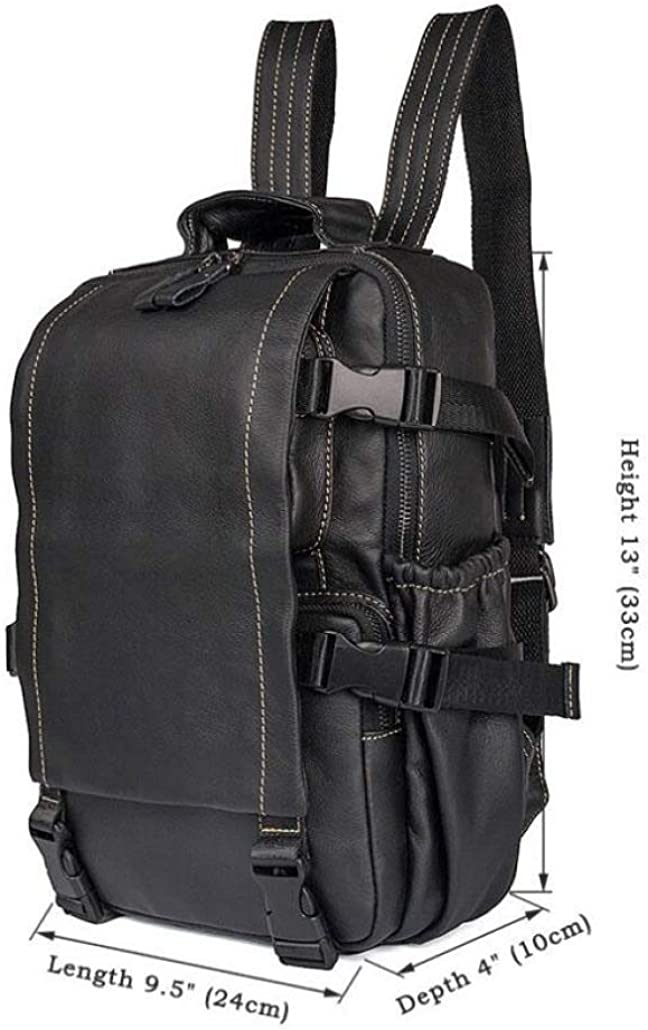 Soft Leather Fashion Backpack Commuter Bag Men and Women Flip Cover Shoulder Bag Small Bag