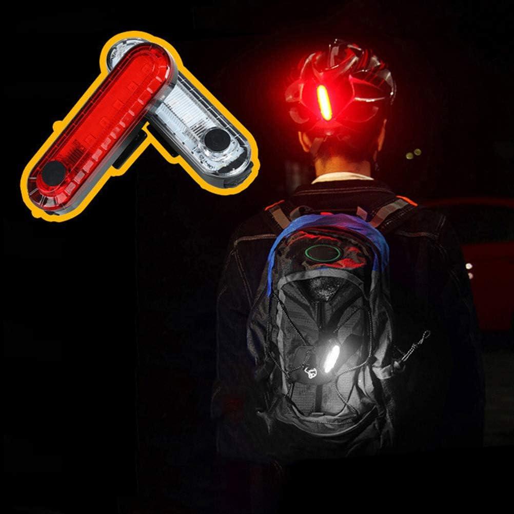 USB Recargable Impermeable Super Brillante Luz LED Bicicleta F/ácil Instalar Bicicleta Luces Traseras Luz LED Trasera Bicicleta Potente 2 Paquetes para Bicicleta de Monta/ña Advertencia Seguridad
