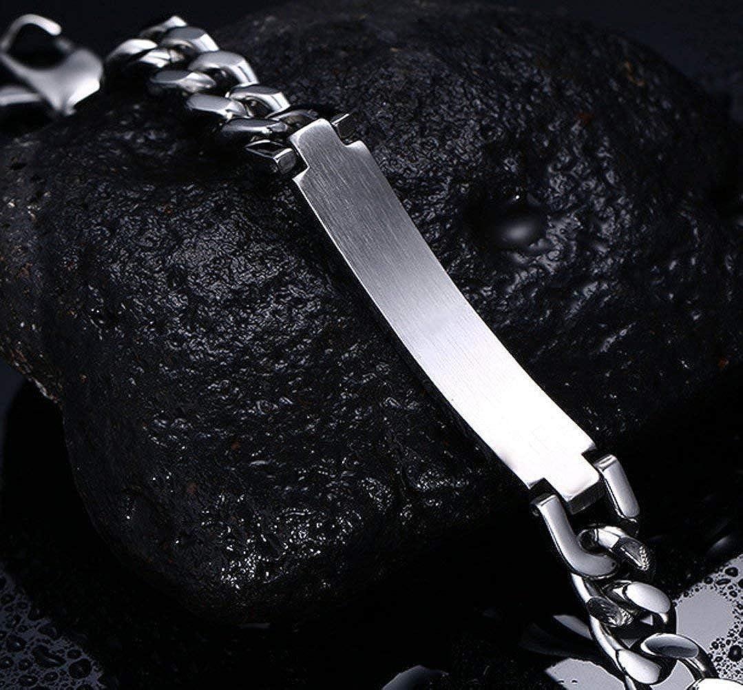 YABINI Couple Fashion Titanium Steel Crystal Link Bracelet