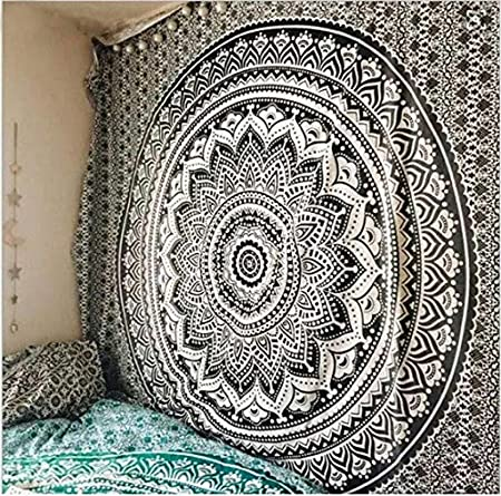 KWELJW Large Mandala Indian Tapestry Wall Hanging Bohemian ...