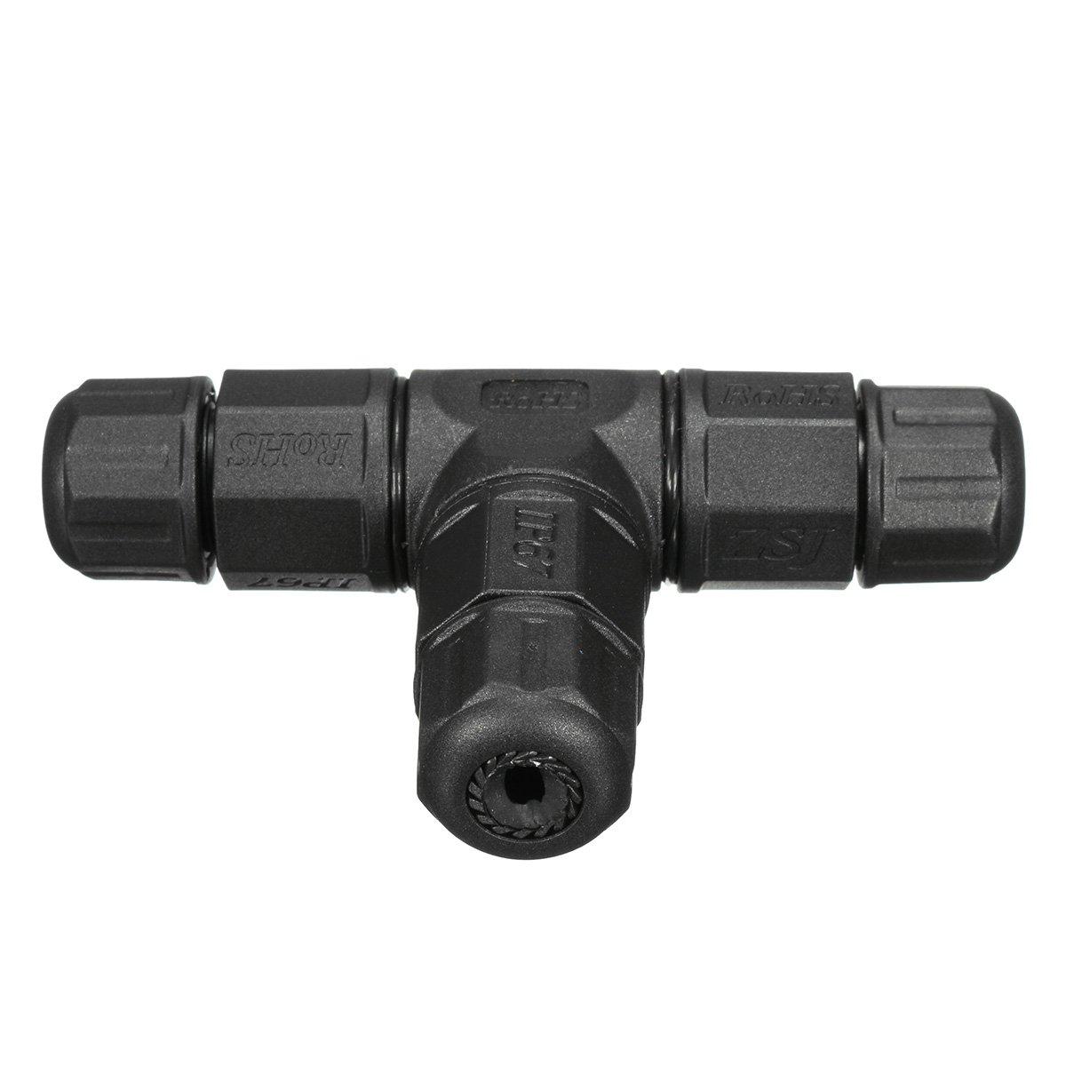 IP67 3 Pin Waterproof Cable Connector 220V-380V Solar Garden Outdoor Junction