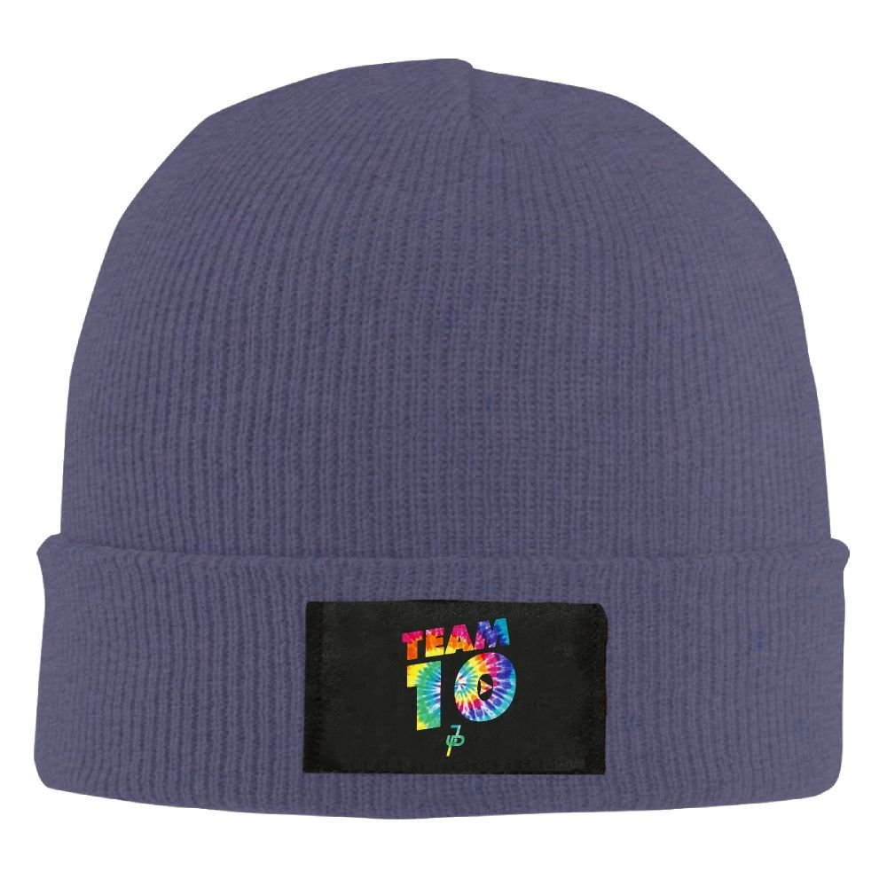 GoldsongTshirt Team10 Tie Dye Jake Paul Unisex Woolen Hat Winter Warm Cap