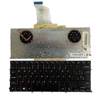 Nuevo Negro teclado español para SAMSUNG NP900X3B NP900X3C NP900X3D luz de fondo