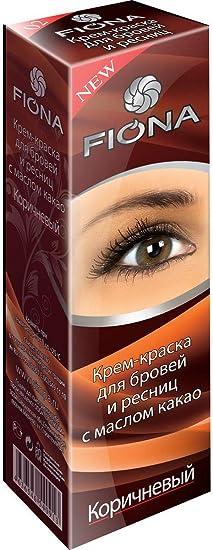 FIONA - Tinte para cejas y pestañas (70 ml), color marrón ...