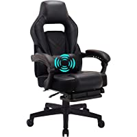 HEALGEN Gaming Chair Ergonomic Computer Gaming Chair with Massage Lumbar Support Racing Style Gamer Chair with Footrest…