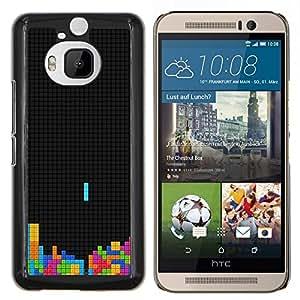 Qstar Arte & diseño plástico duro Fundas Cover Cubre Hard Case Cover para HTC One M9Plus M9+ M9 Plus (Colorido Tetr1s Juego)