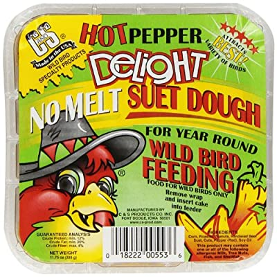 C & S Products Hot Pepper Delight 11.75 oz, 12-Piece by Bird Products/Food