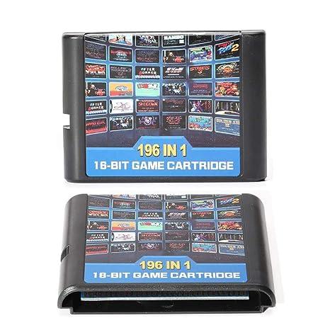 Entrega gratis Tarjeta de juego 196 en 1 cartucho de juego ...