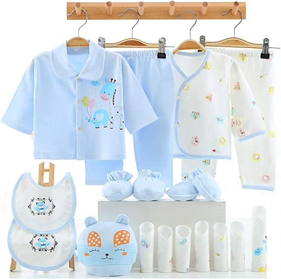18 Pcs Newborn Baby Clothes Preemie Clothing Newborn Layette Set 0-6 Months