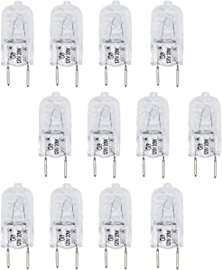AMI PARTS 12 Pack of WB25X10019 20W 120V Halogen Lamp Bulb Replacement Part for GE Microwave.