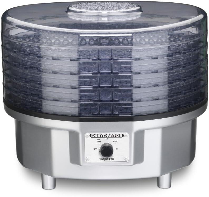 Waring WDHR60SILPCFR Food Dehydrator, Silver