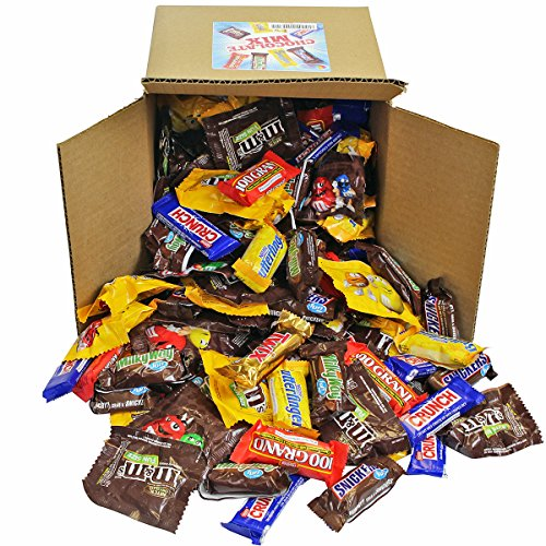 Chocolate Variety Pack - Fun Size Candy - All Your Favorite Chocolate Bars Including M&M, Snickers, Twix and More In 8x8x8 Bulk Box, 8 LB