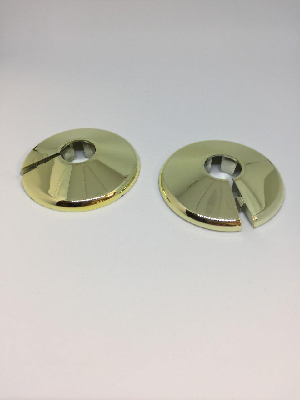 x2 Talon Plastic Gold Pipe Cover for 15mm Pipe