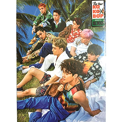 EXO KPOP [Regular B] KOREAN Version The War 4th Album CD + Photobook + Photocard