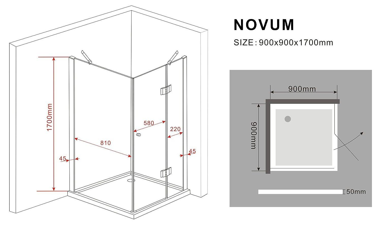 Duschkabine NOVUM 80 x 80 x 170 cm
