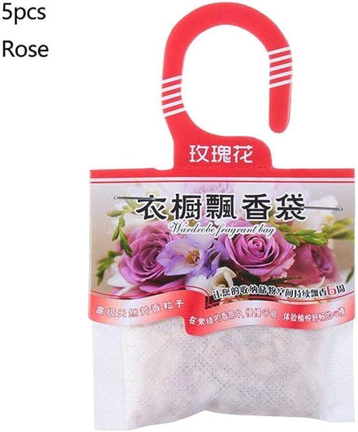 Piner 5 Packs Fragancias Colgando Especias Bolsa Armario Natural Bolsas de Papel desodorizante Aromaterapia Bolsa Gabinete Ambientadores, 5 Piezas Rosa: Amazon.es: Hogar