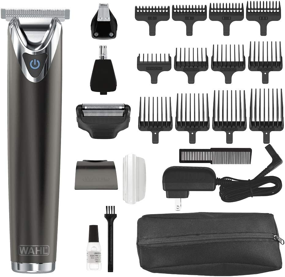 Wahl Clipper Kit de cortador de barba de acero inoxidable con ...
