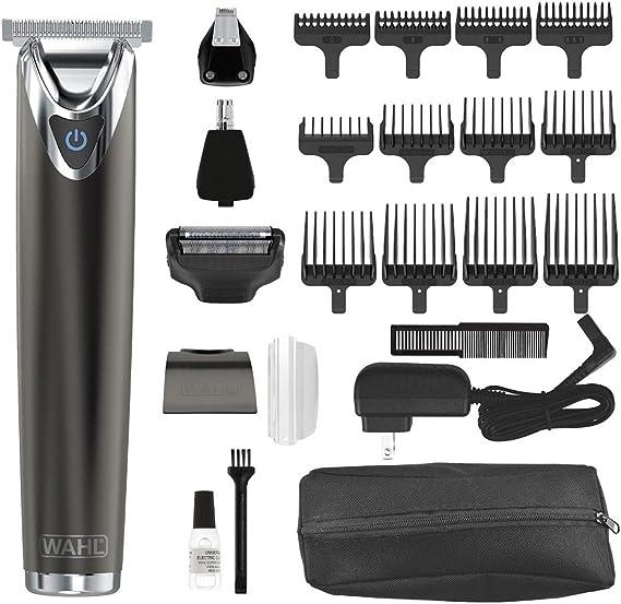 Wahl Clipper Kit de cortador de barba de acero inoxidable con ...