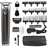 Wahl Stainless Steel Lithium Ion 2.0+ Slate Beard Trimmer for Men - Electric Shaver, Nose Ear Trimmer, Rechargeable All in On