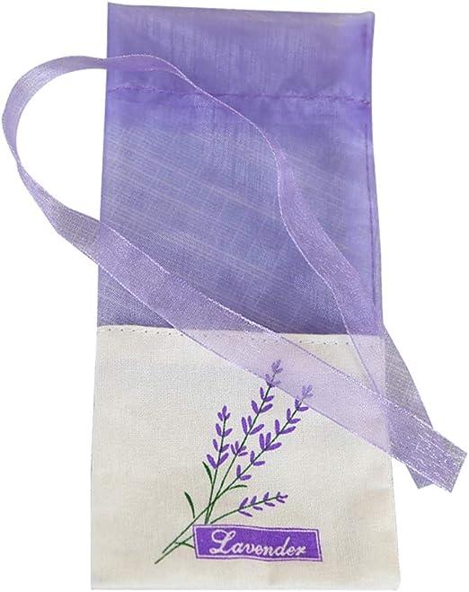 Vosarea - 30 bolsitas vacías con estampado de flores, color morado claro: Amazon.es: Hogar