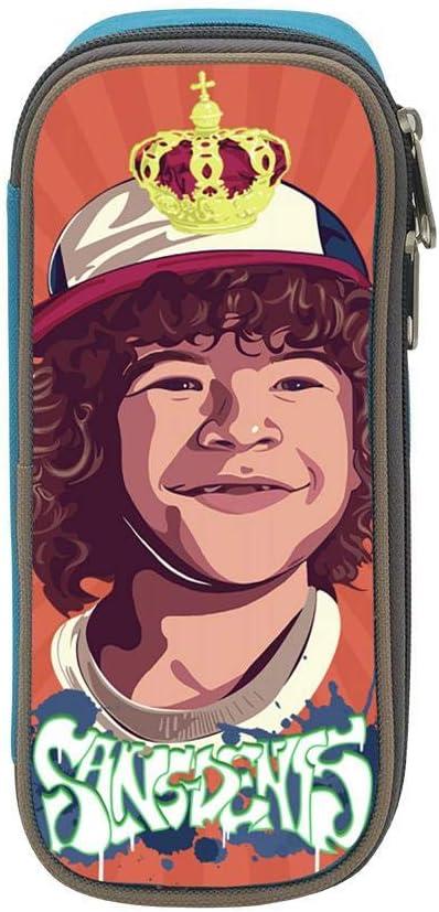 MOMODUA Unisex Stranger Things Dustin Henderson Estuche para lápices de gran capacidad durable con bolsa para bolígrafos con cremallera: Amazon.es: Oficina y papelería
