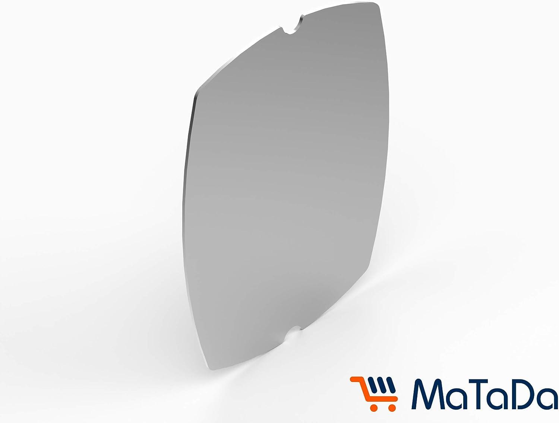 MaTaDa Plancha en acier inoxydable pour barbecue Weber Q100 I Q120 I Q140 I Q1000 I Q1200 I Q1400