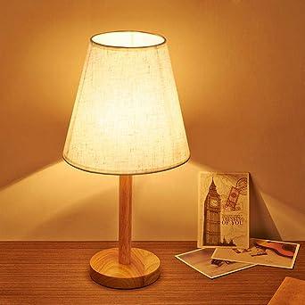 Lámpara de mesa de noche casa sencilla de madera estudio creativo ...