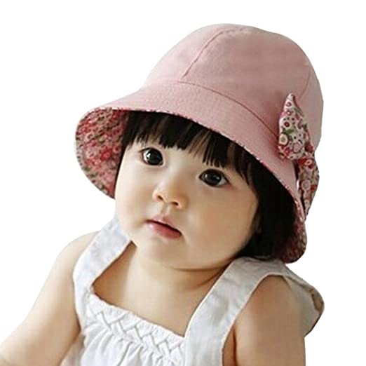 17650e64 Image Unavailable. Image not available for. Color: PanDaDa Baby Girls Polka  Dots Sunhat ...