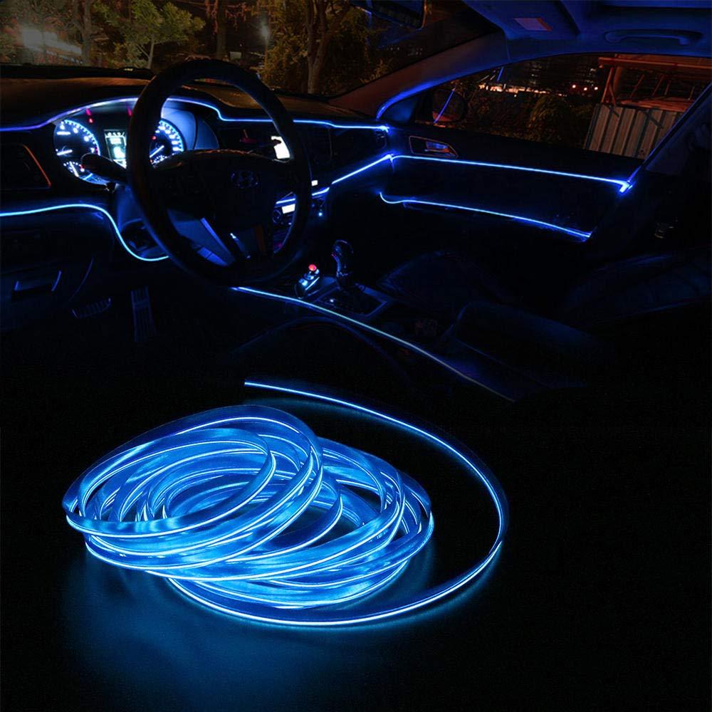 5 meter auto innenbeleuchtung auto led streifen el drahtseil auto atmosph/äre dekorative lampe flexible neonlicht diy @ rot