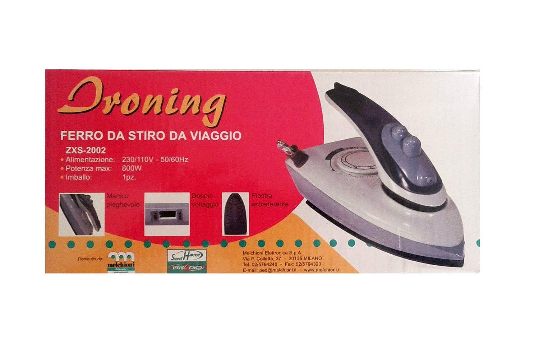 FERRO DA STIRO DA VIAGGIO ZXS-2002 800W 230/110W 50/60HZ IRRADIO