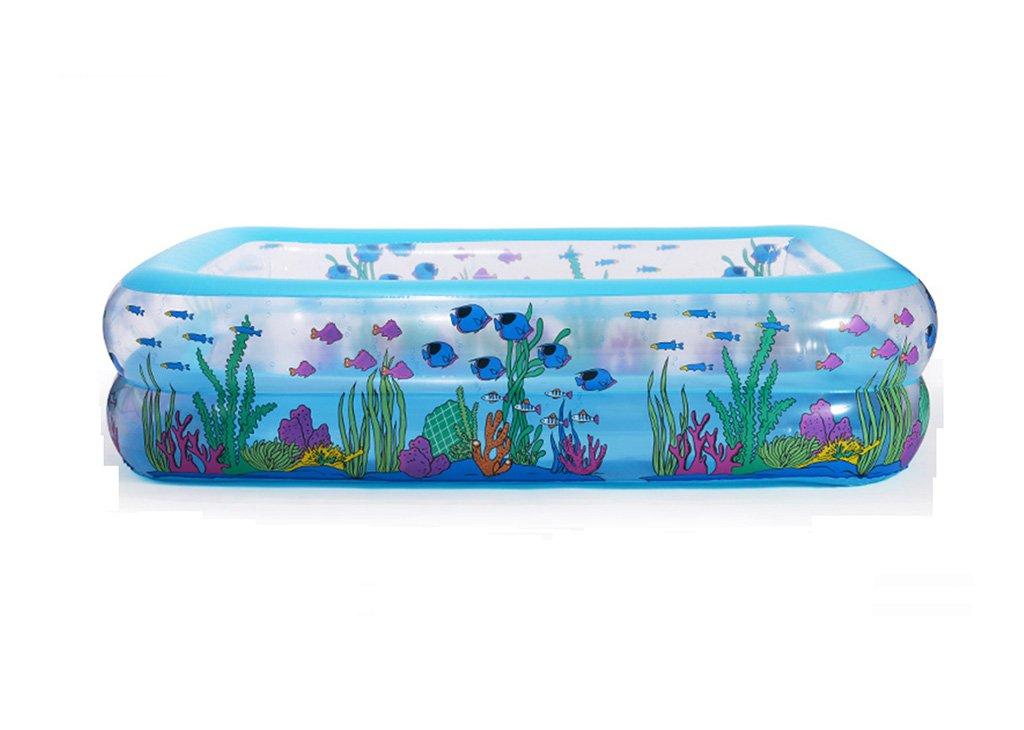 JPYG Inflatable Bathtub, Household Thickening Inflated Fishing Pond Adult Plastic Family Bathtub Portable (Size : 110cm)